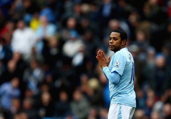 Robinho no Manchester City em 2009