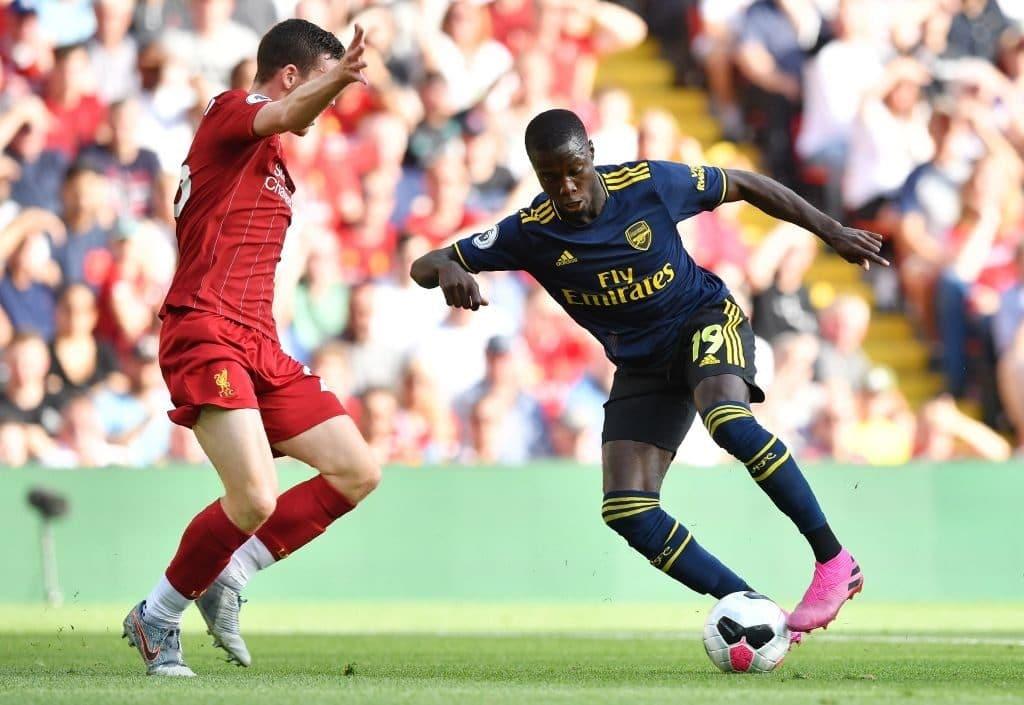 Nicolas Pépé Arsenal Liverpool Anfield agosto 2019