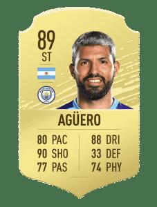 Aguero card fifa 20 ultimate team
