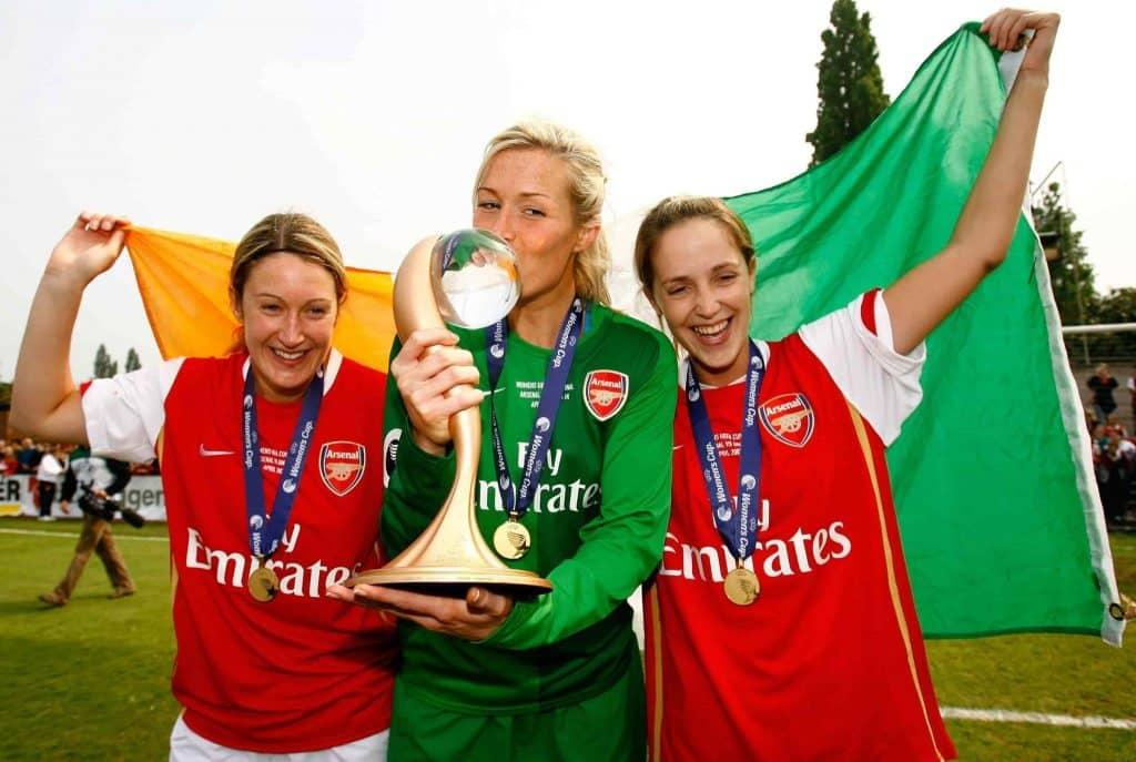 Arsenal Women feminino Uefa Cup champions 2007 Ian Walton Collection Getty Images Sport 2