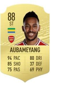 aubameyang firmino card fifa 20 ultimate team