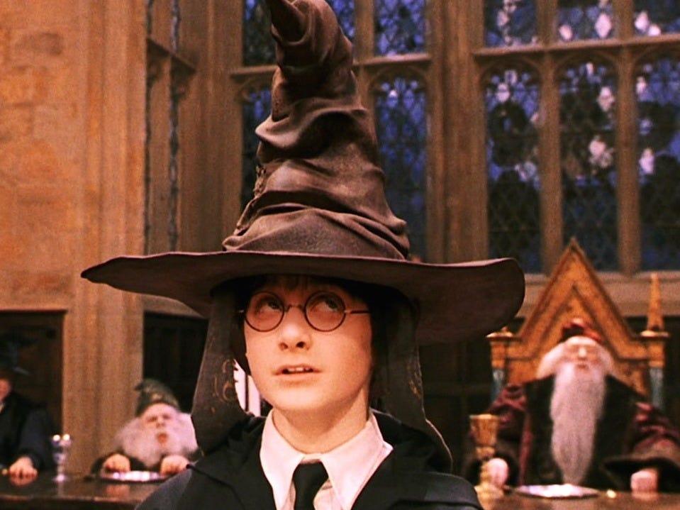 chapéu seletor harry potter