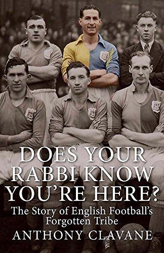 does your rabbi know you're here book livro judeu jewish futebol inglês inglaterra