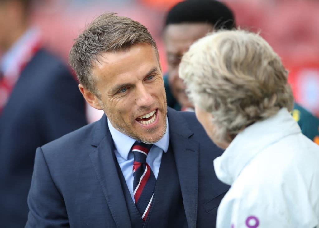 seleção inglesa feminina técnico Phil Neville Ian MacNicol Collection Getty Images Sport