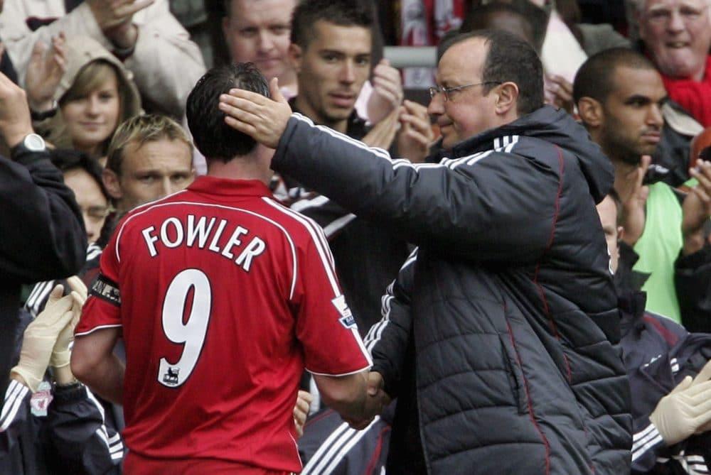 Robbie Fowler Rafa Benitez Liverpool