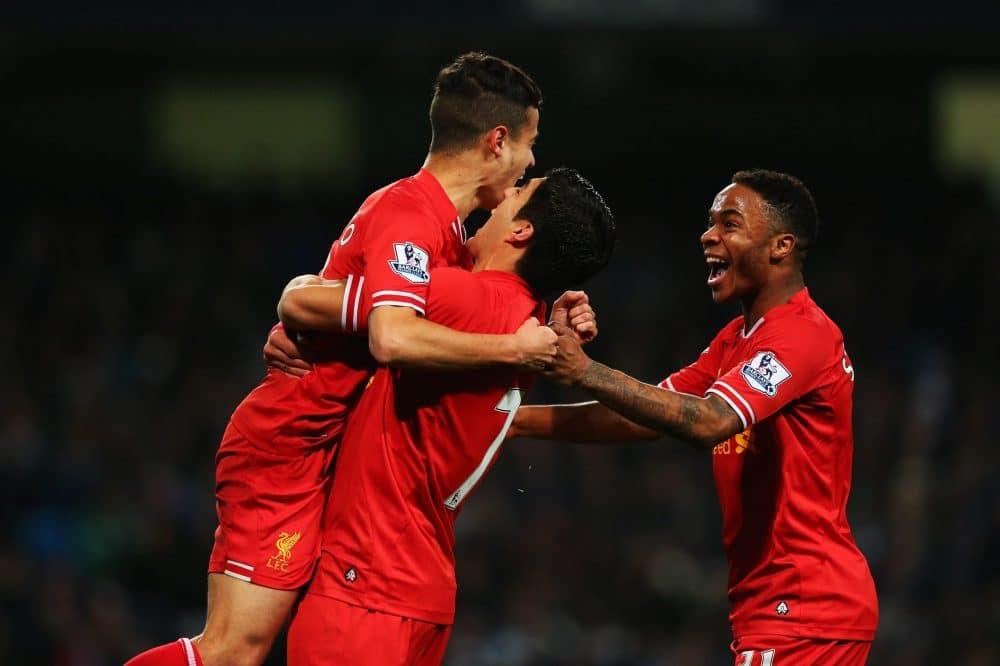 Suárez, Coutinho e Sterling no Liverpool