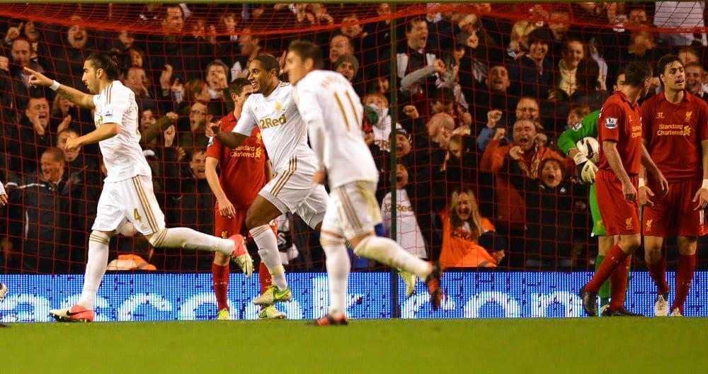 Swansea derrotou o Liverpool por 3 a 1 em Anfield