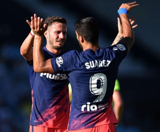 Atlético de Madrid - Saúl Ñiguez e Luis Suares