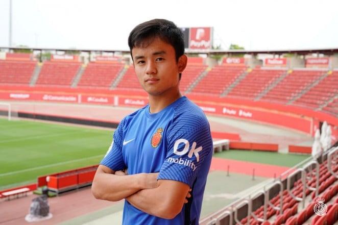 Take Kubo retorna ao Mallorca por empréstimo até junho de 2022.