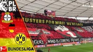 Torcida e simbolos de Bayer Leverkusen x Dortmund
