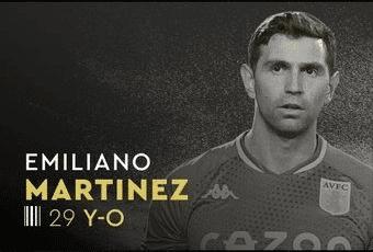 Emiliano Martinez foi um dos indicados ao Troféu Yashin de Melhor Goleiro do Ano.